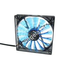 Aerocool 120mm Shark Fan Blue Edition - Transparent Black Blue LED