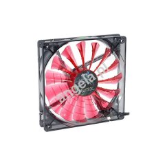 Aerocool 140mm Shark Fan Devil Red edition - transparent black, red LED