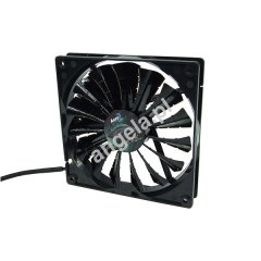 Aerocool 140mm Shark Fan Black Edition - Bright Black