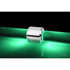 Alphacool Aurora HardTube LED ring 16mm chrome - green