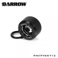 Barrow G1/4 - 12mm OD twin seal hard tube compression fitting - black