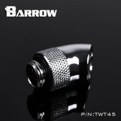 "Barrow G1/4"" 45 Degree Rotary Adaptor Fitting silver nickel"