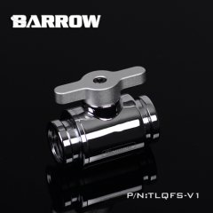 "Barrow G1/4"" Mini Ball Valve silver nickel with Metal Handle aluminum bare"