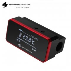 BarrowCH G1/4 Multimode OLED Display Heat Sensor Alarm With Intelligent Shutdown - Red