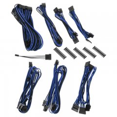 BitFenix Alchemy 2.0 PSU Cable Kit, BQT-Series SP10 - black/blue
