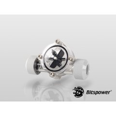 Bitspower Flow Indicator Deluxe White BP-FI-CLBKWH