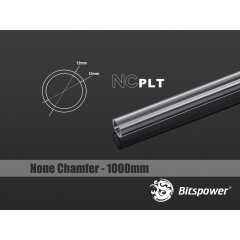 Bitspower None Chamfer PETG Link Tube OD12MM-Length 1000MM - BP-NCPLT12-L1000
