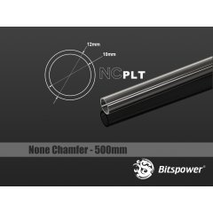 Bitspower None Chamfer PETG Link Tube OD12MM-Length 500MM BP-NCPLT12-L500