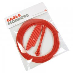 Cable Modders High Density 4mm Braid Sleeving Kit UV Red - 3m