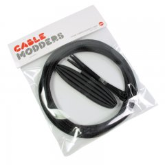 Cable Modders High Density 4mm Braid Sleeving Kit Jet Black - 3m