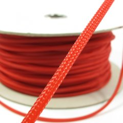 Cable Modders U-HD Braid Sleeving - UV Red 4mm (1m)