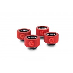 EK Water Block EK-HDC Fitting 16mm - Red (4-pack)