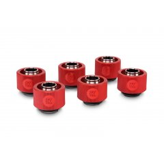 EK Water Blocsk EK-ACF Fitting 10/16mm - Red (6-pack)