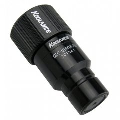 Koolance QD3 Male Quick Disconnect No-Spill Coupling, Compression for 10mm x 16mm (3/8in x 5/8in) Black QD3-MS10X16-BK