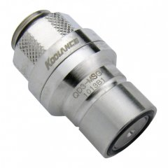 Koolance QD3 Male Quick Disconnect No-Spill Coupling, Male Threaded G 1/4 BSPP QD3-MSG4