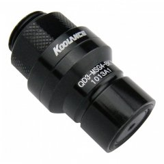 Koolance QD3 Male Quick Disconnect No-Spill Coupling, Male Threaded G 1/4 BSPP Black QD3-MSG4-BK