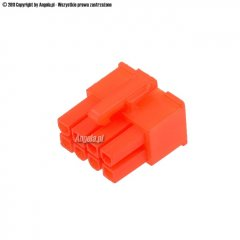Mod/smart ATX Power Connector 8Pin EPS plug - UV brite orange