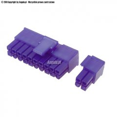 Mod/smart ATX Power Connector 20+4Pin plug - UV purple