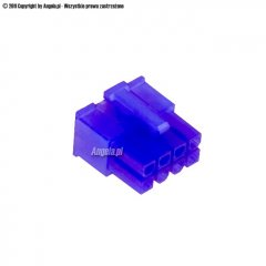 Mod/smart ATX Power Connector 8pin EPS plug - UV purple