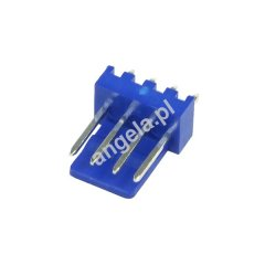 Mod/smart Fan Power Connector 4pin PWM plug - UV-reactive blue