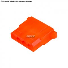 Mod/smart PSU Power Connector 4pin Molex plug - UV brite orange