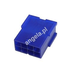 Mod/smart VGA Power Connector 8Pin socket - UV-reactive blue