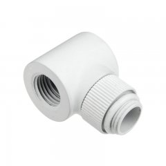 "Monsoon adapter 90° 19/13 G1/4"" na IG1/4"" biały"