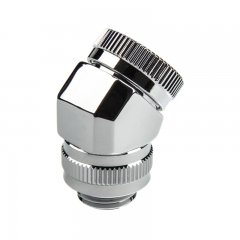 PHANTEKS Rotary Hard Tube Fitting 12mm 45° G1/4 - chrome