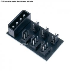 Phobya adapter 4pin Molex -> 6x 3Pin Fan Splitter PCB