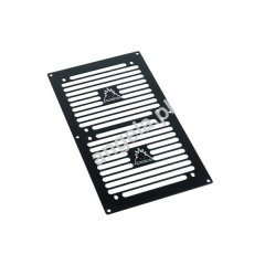 Phobya grill 2x120 Strip stainless steel black