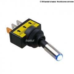 Phobya switch - LED blue, black 3pin