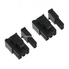Phobya VGA Power Connector 6+2Pin plug with pins - 2 pcs Black