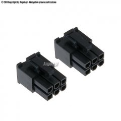 Phobya VGA Power Connector 6Pin plug (tapered) with pins - 2 pcs Black